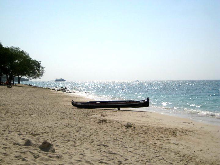 Image: Playa Blanca in Cartagena, Colombia