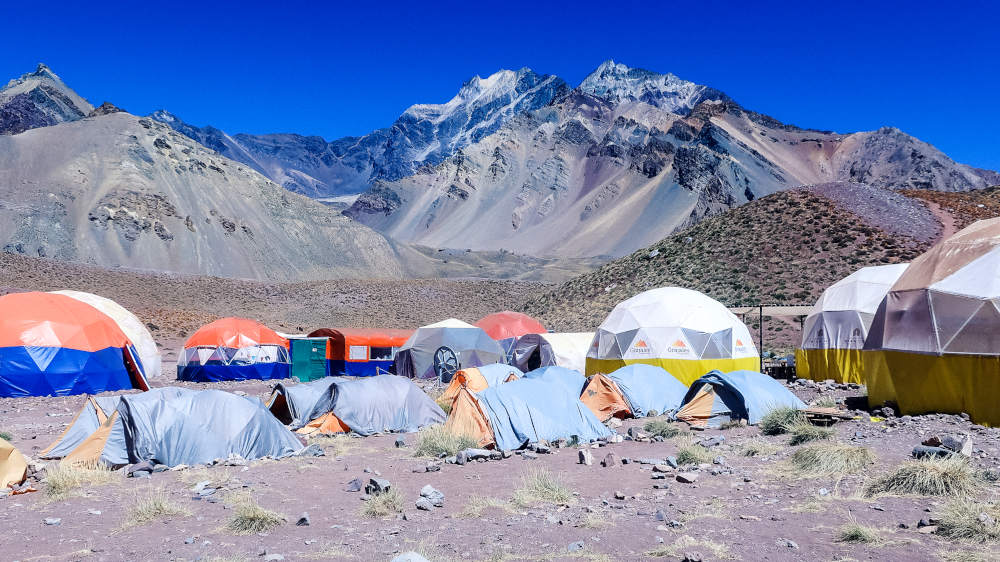 Image: Base camp in Mendoza