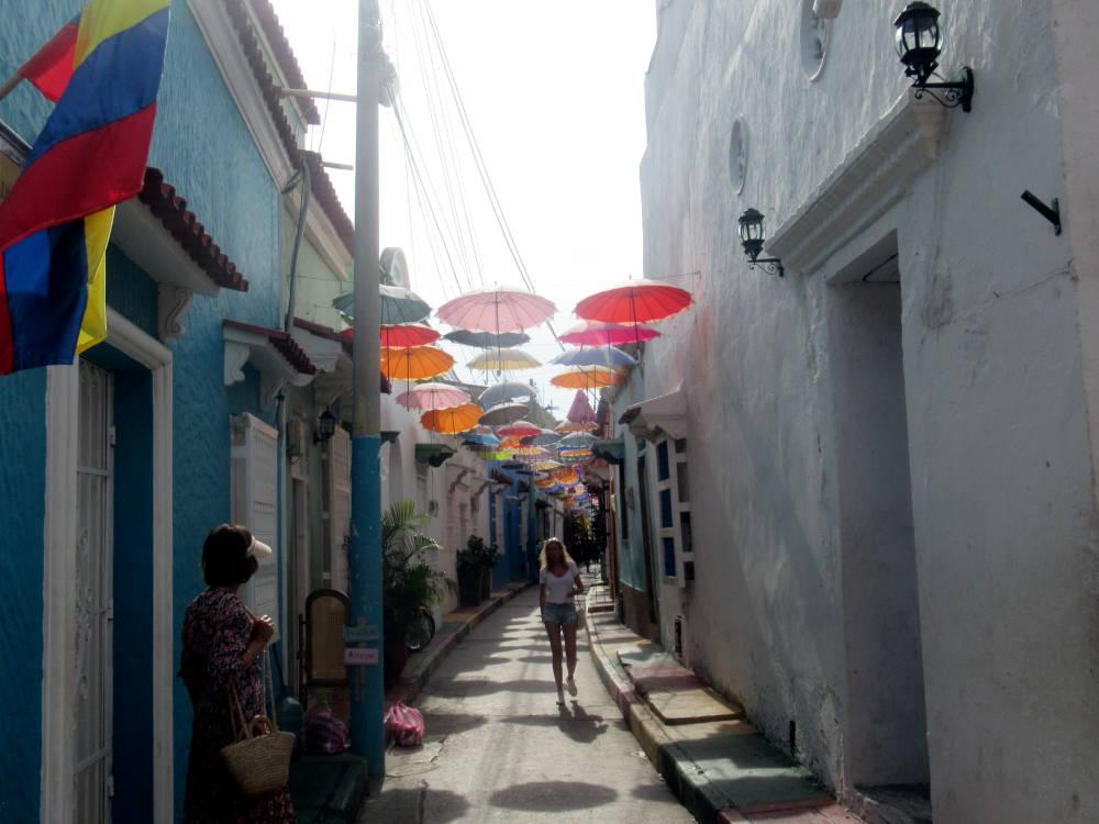 Image: Callejón Angosto in Getsemaní in Cartagena
