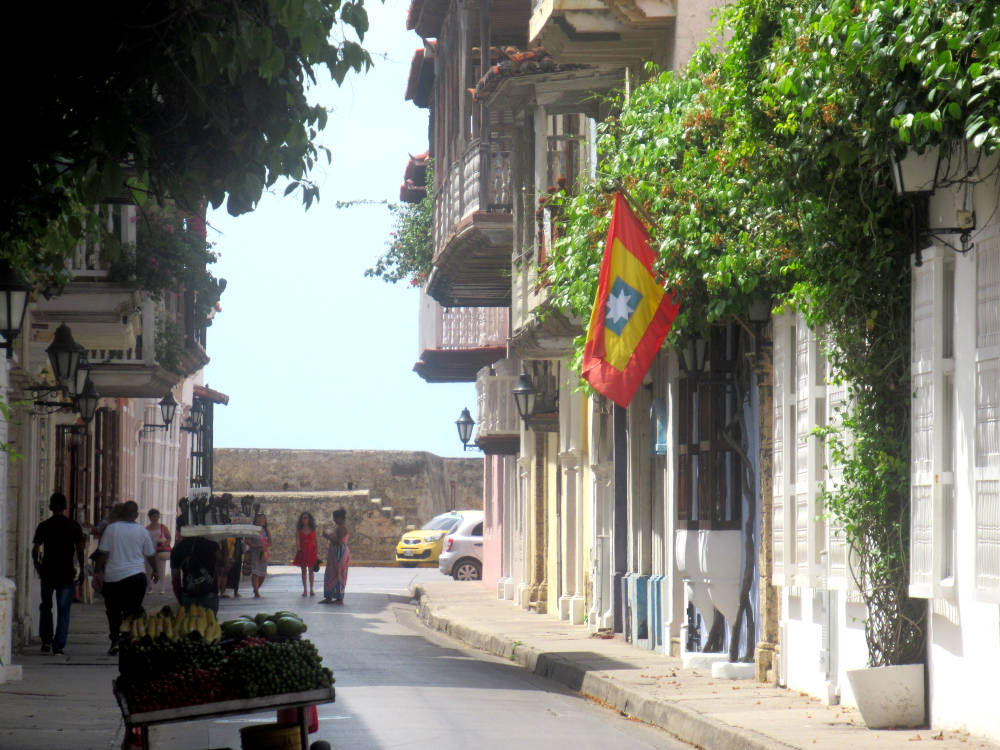 Image: Inside the walled city of Cartagena, Colombia