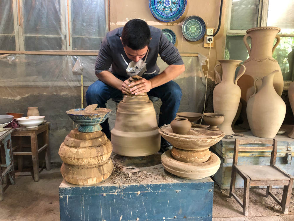 Image: Ceramic Workshop at Rishtan, Fergana Valley, Uzbekistan