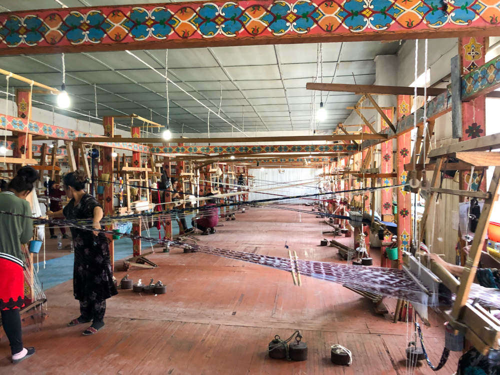Image: Inside the silk factory in Margilon, Fergana Valley, Uzbekistan