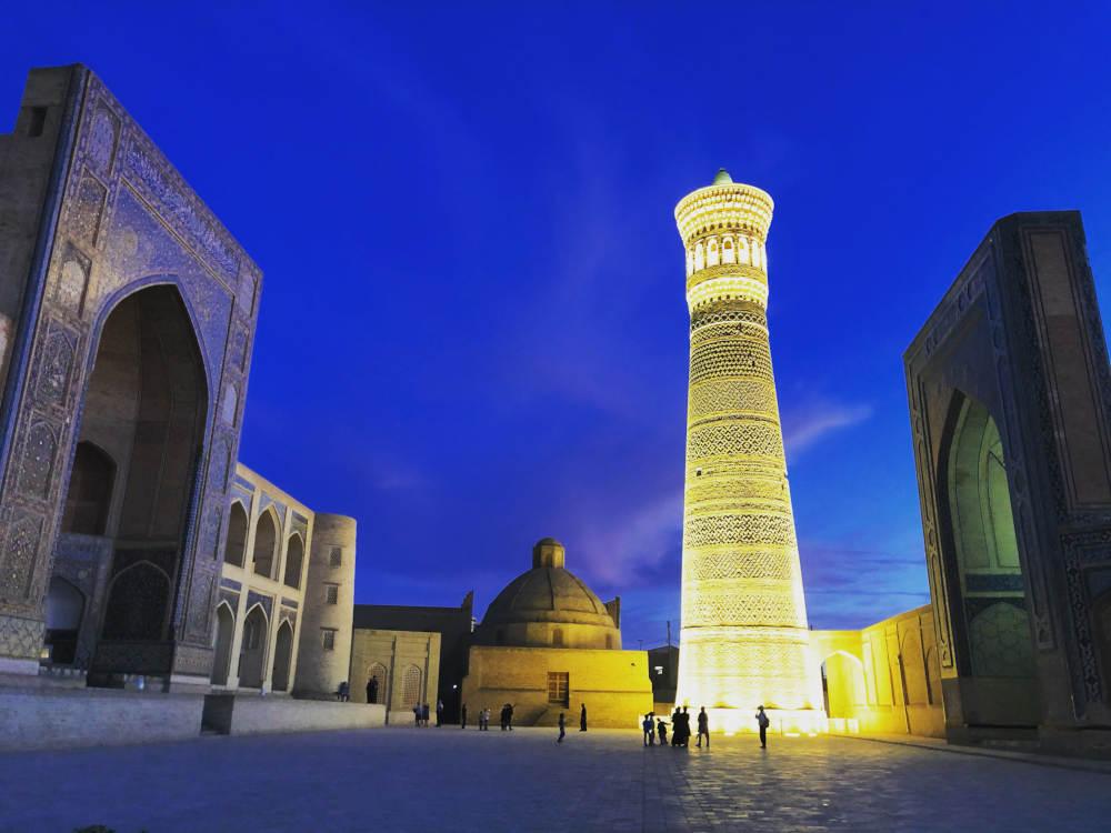 Image: Kalyan minaret in Bukhara, Uzbekistan