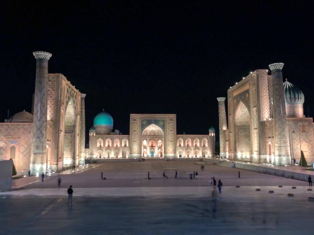 Image: Registan square in Samarkand, Uzbekistan