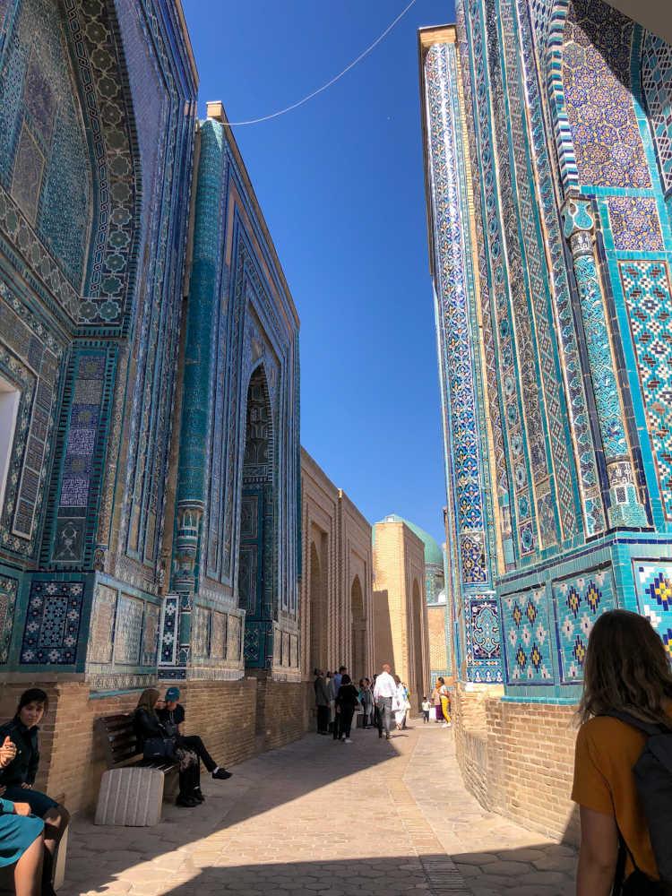 Image: Shah-i-Zinda Necropolis in Samarkand, Uzbekistan