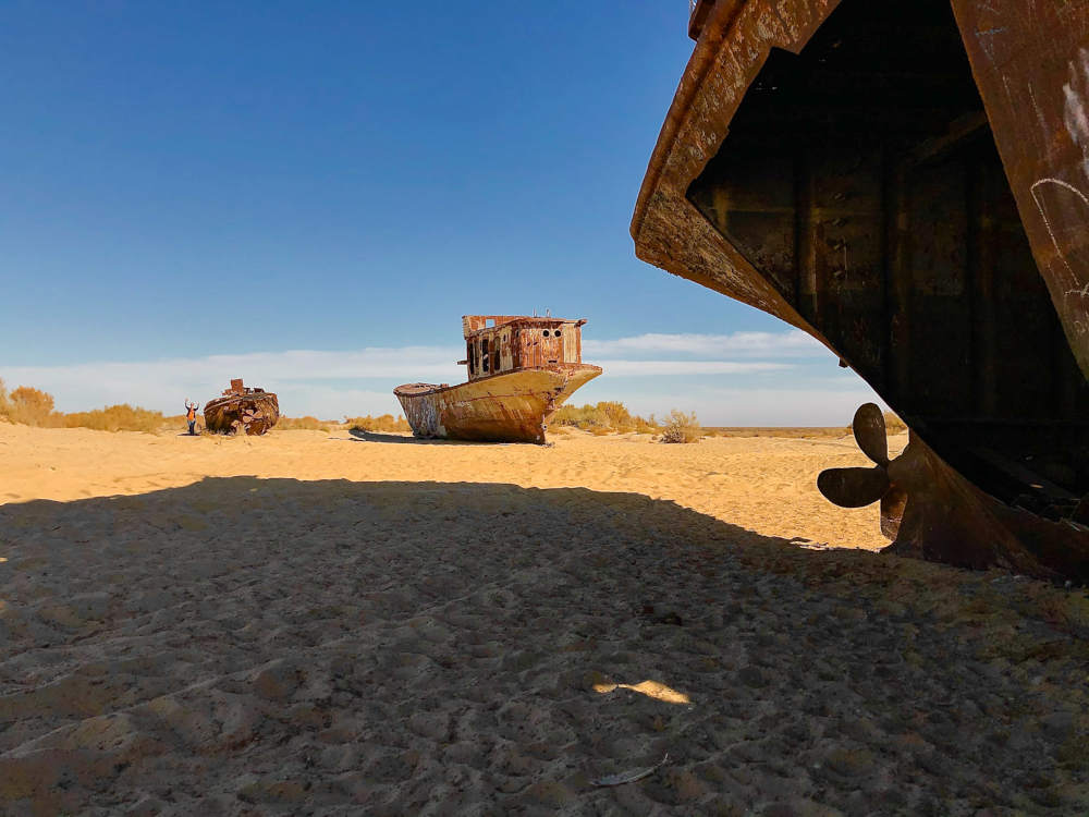 Image: Shipwrecks at Muynak, Aral Sea in Uzbekistan