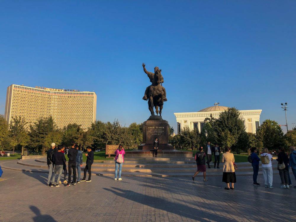 Image: Timurlane square in Tashkent, Uzbekistan