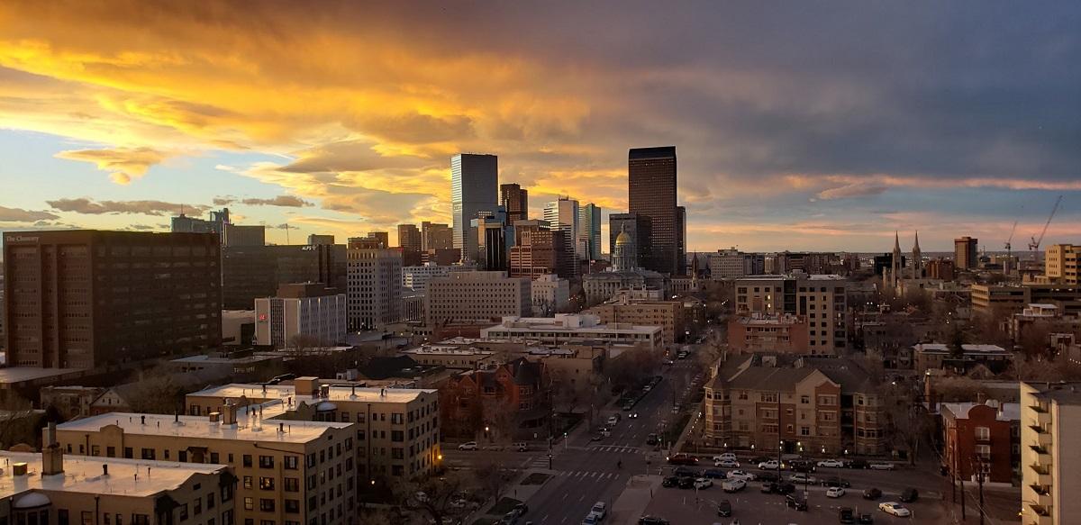Image: Denver sunset