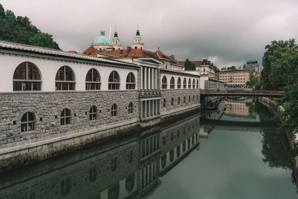 Image: Bridge in Ljubljana, Slovenia