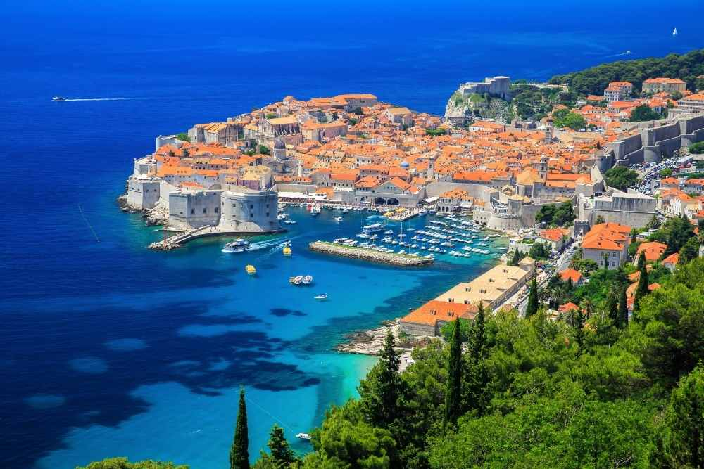 Image: View of Dubrovnik in Croatia