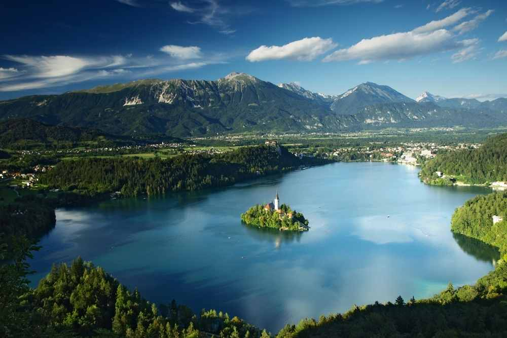 Image: Lake Bled in Slovenia