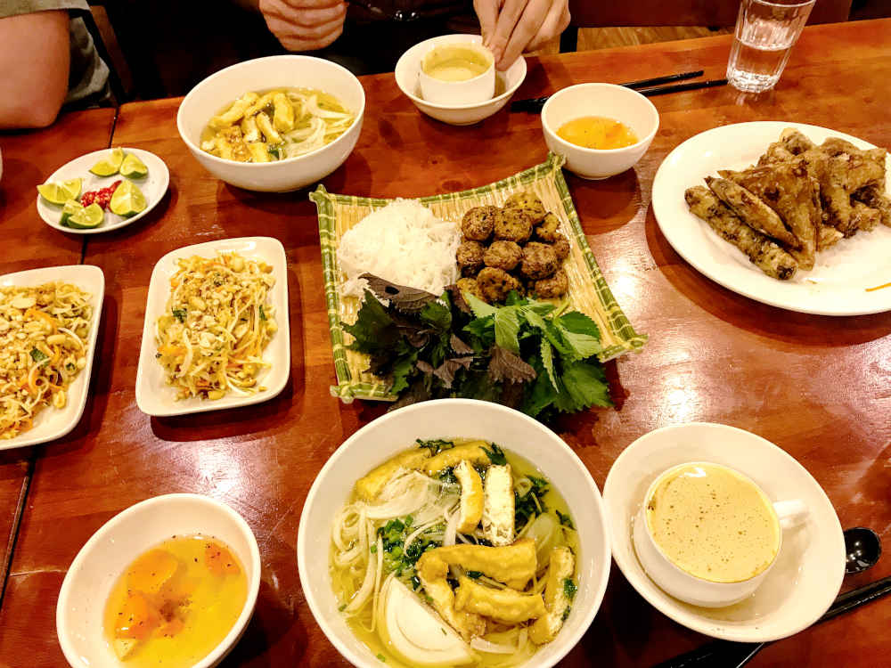 Image: Dishes from a cooking class in Hanoi, Vietnam