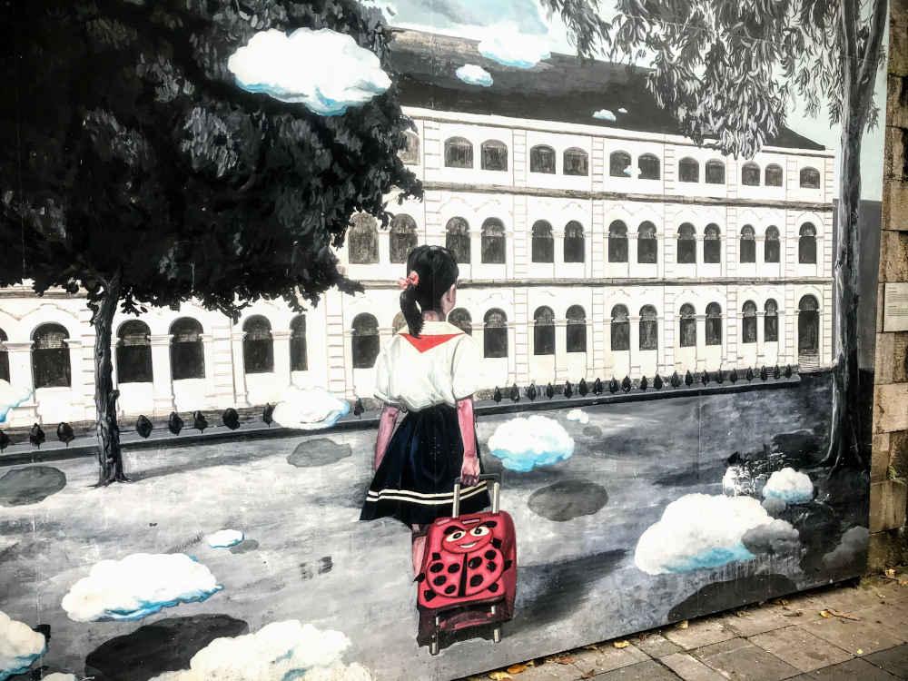 Image: Phung Hung mural street in Hanoi, Vietnam