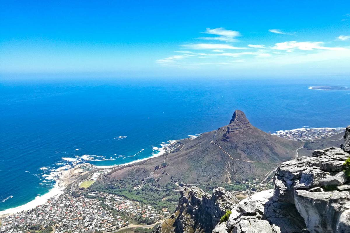 Image: Cape Town and Lion's Head from Table Mountain