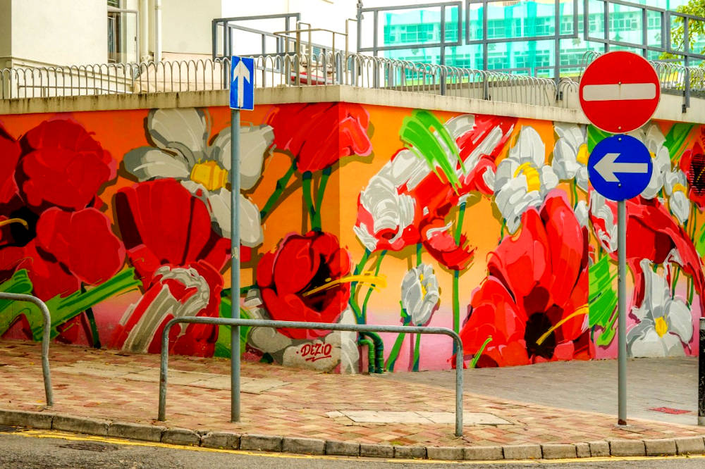 Image: Wan Chai street art in Hong Kong