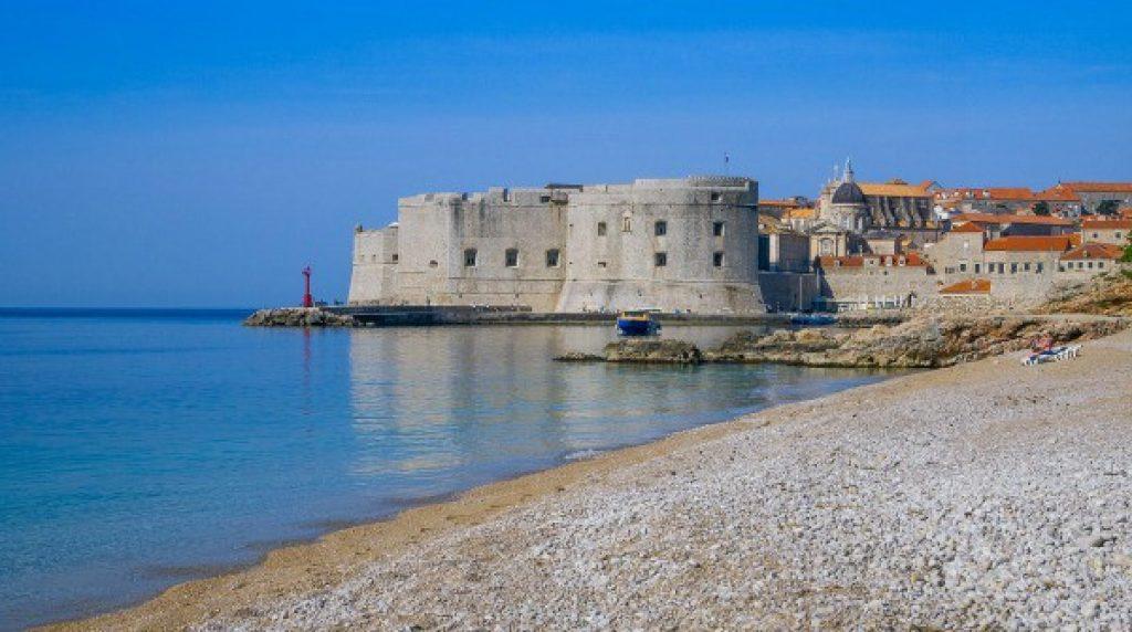 Image of Banje beach in Dubrovnik