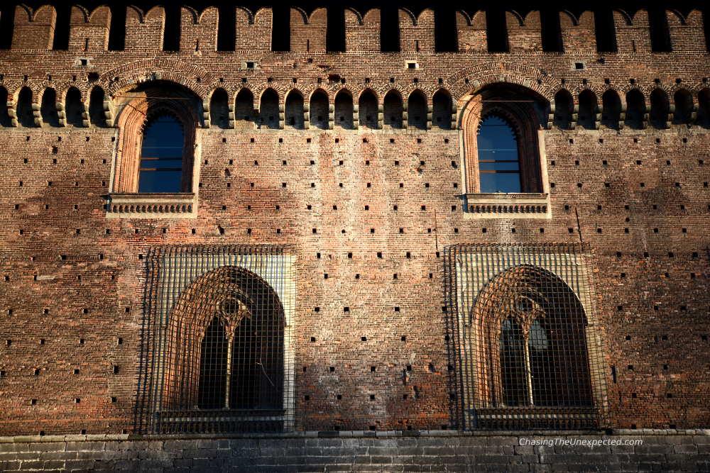 windows sforza castle milan